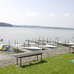 Der Bootsverlei am Strandbad in 200m